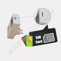 Умная GSM розетка SC1-GSMV 16A Konlen с датчиком температуры (управление по смс и звонкам до 3 кВт)