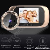 Видеоглазок DD1 HD (звонок, встроенная память, фото, ИК подсветка, автоматическая фотофиксация)