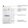 Беспроводной геркон 433 МГц (беспроводной датчик открытия двери, окна) Kerui для сигнализаций
